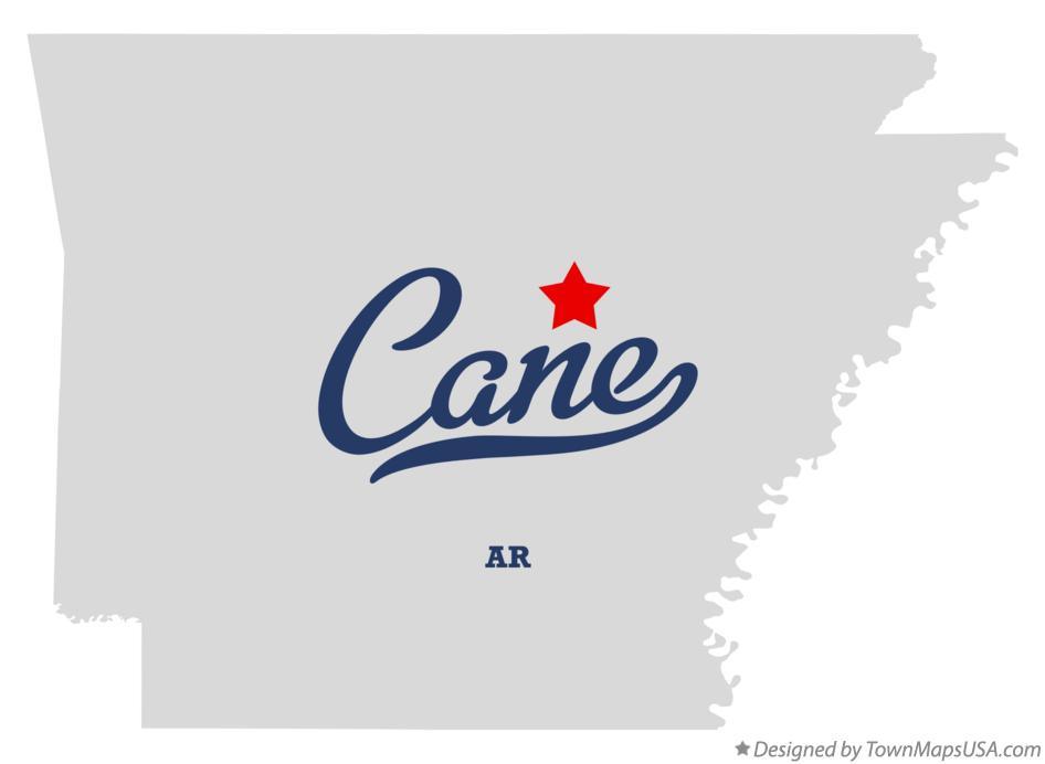 Map of Cane Arkansas AR