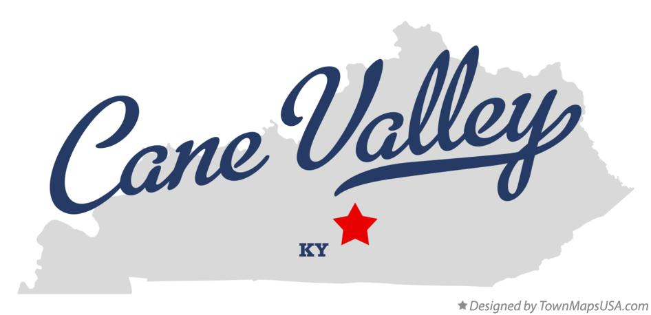 Map of Cane Valley Kentucky KY