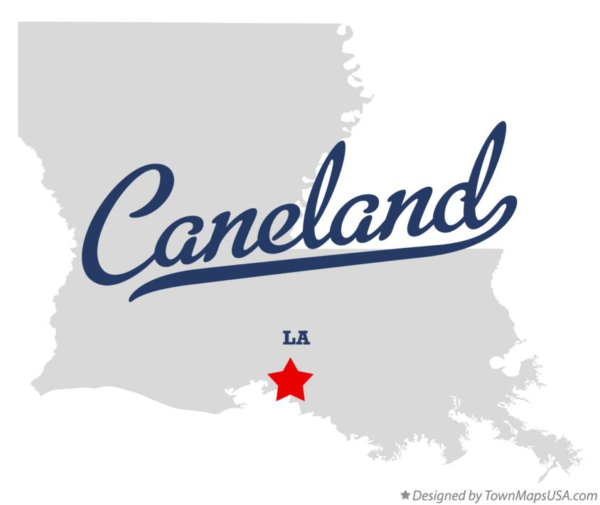 Map of Caneland Louisiana LA