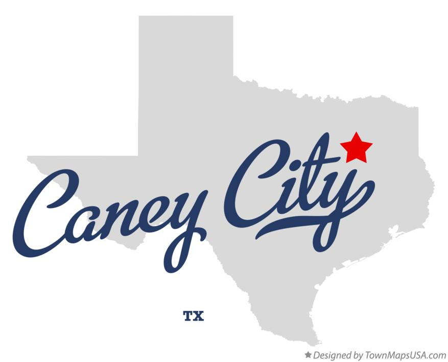 Map of Caney City Texas TX