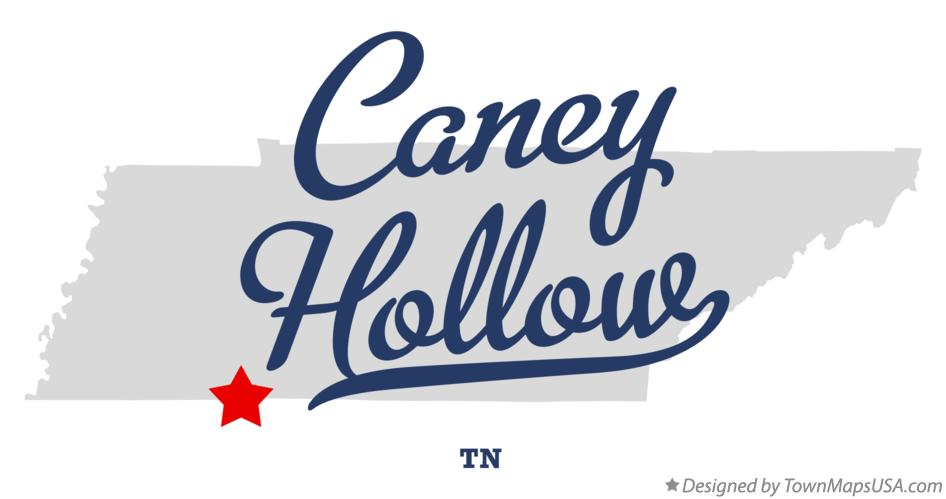 Map of Caney Hollow Tennessee TN