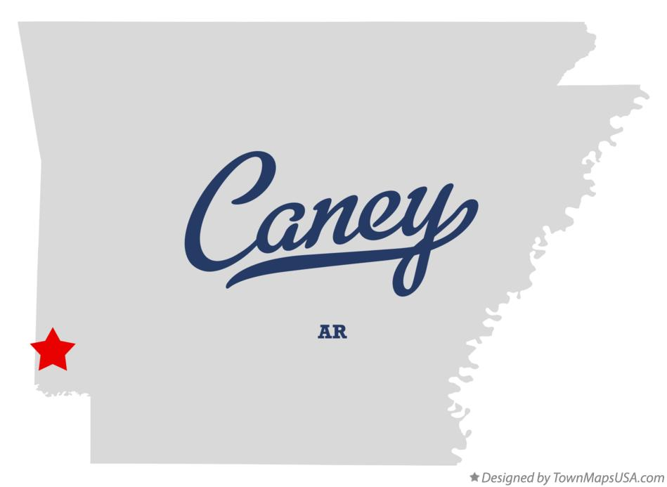 Map of Caney Arkansas AR