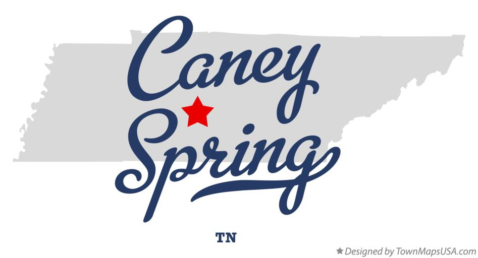 Map of Caney Spring Tennessee TN