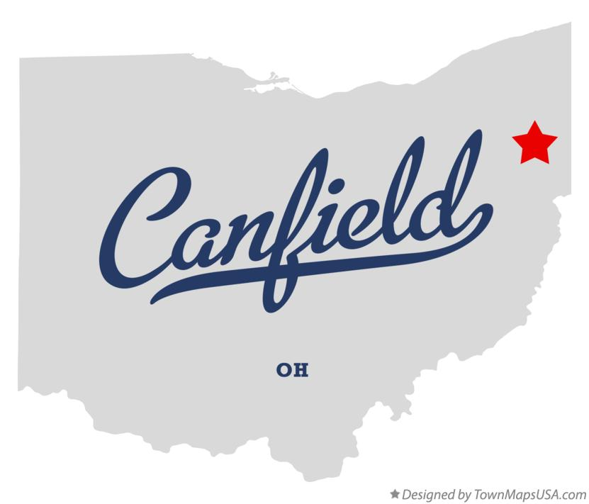 Map of Canfield Ohio OH