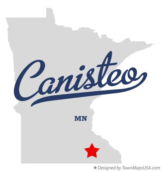Map of Canisteo Minnesota MN