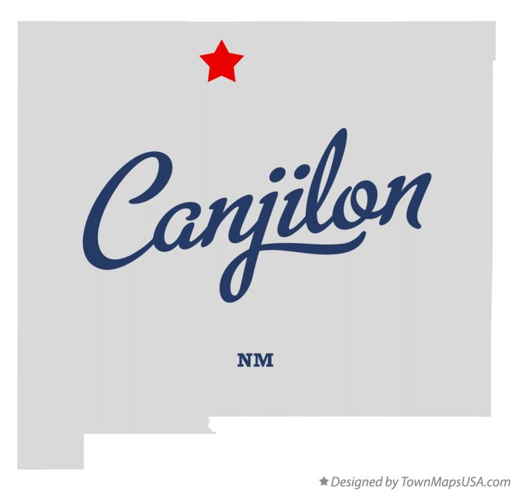 Map of Canjilon New Mexico NM