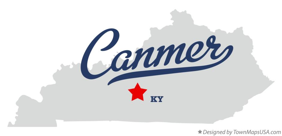 Map of Canmer Kentucky KY