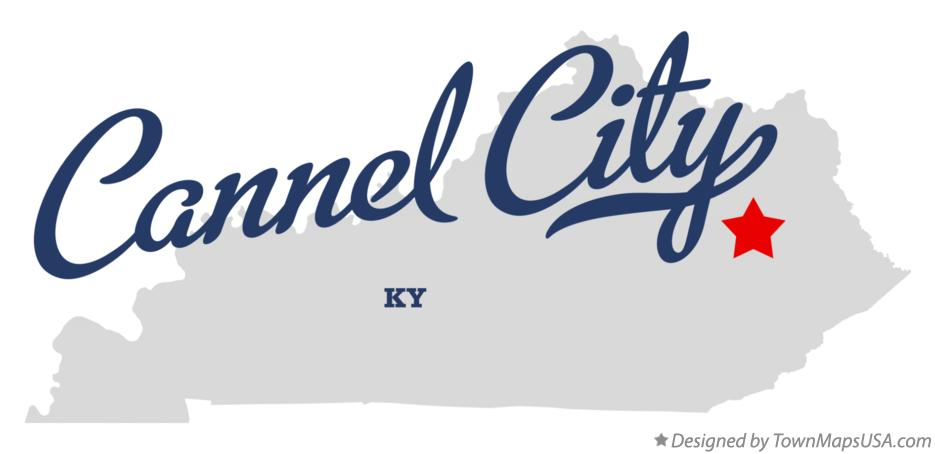 Map of Cannel City Kentucky KY