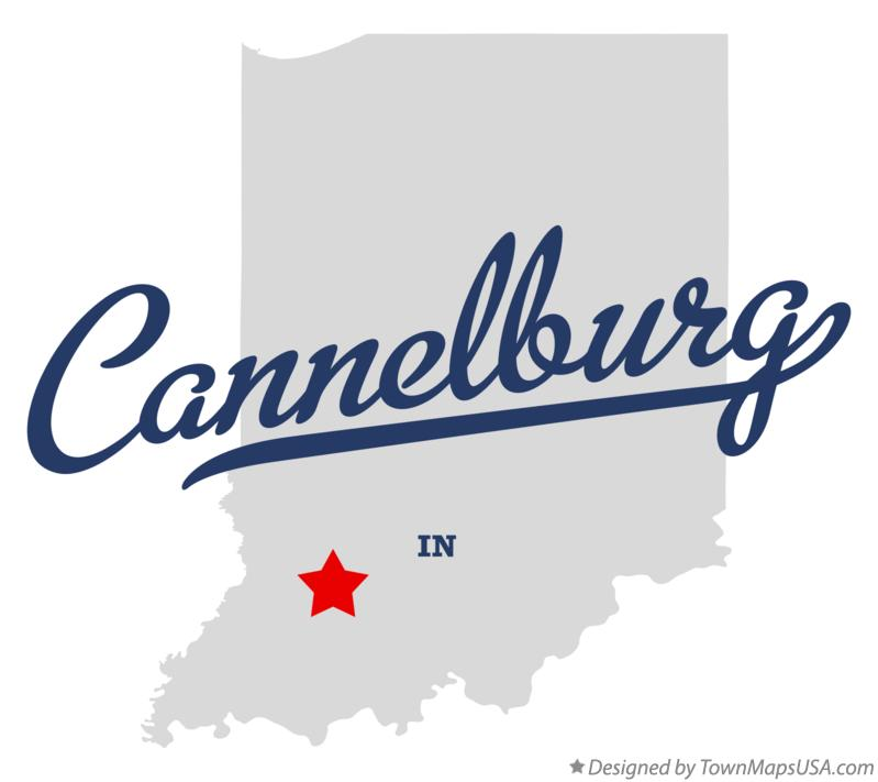 Map of Cannelburg Indiana IN