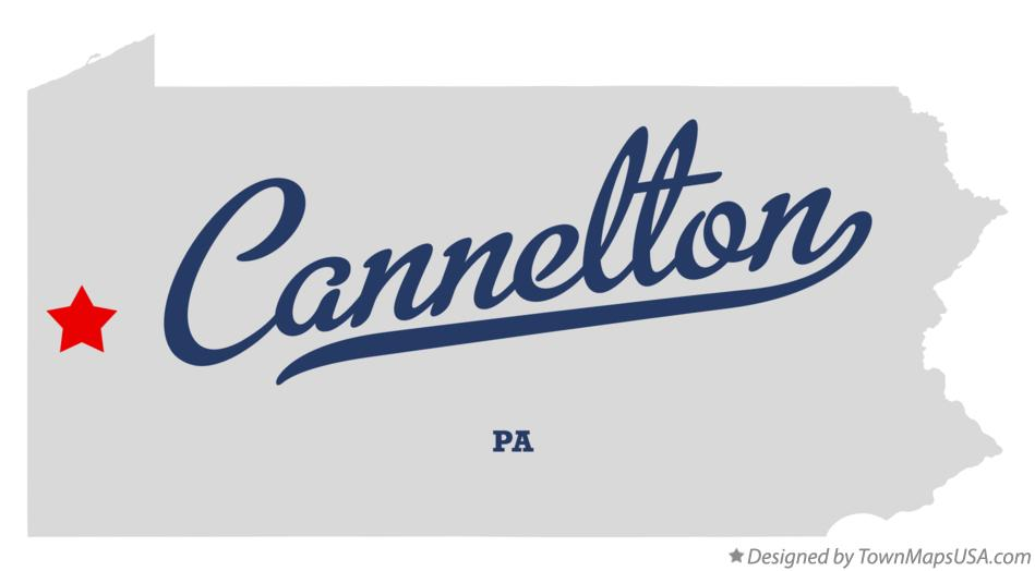 Map of Cannelton Pennsylvania PA
