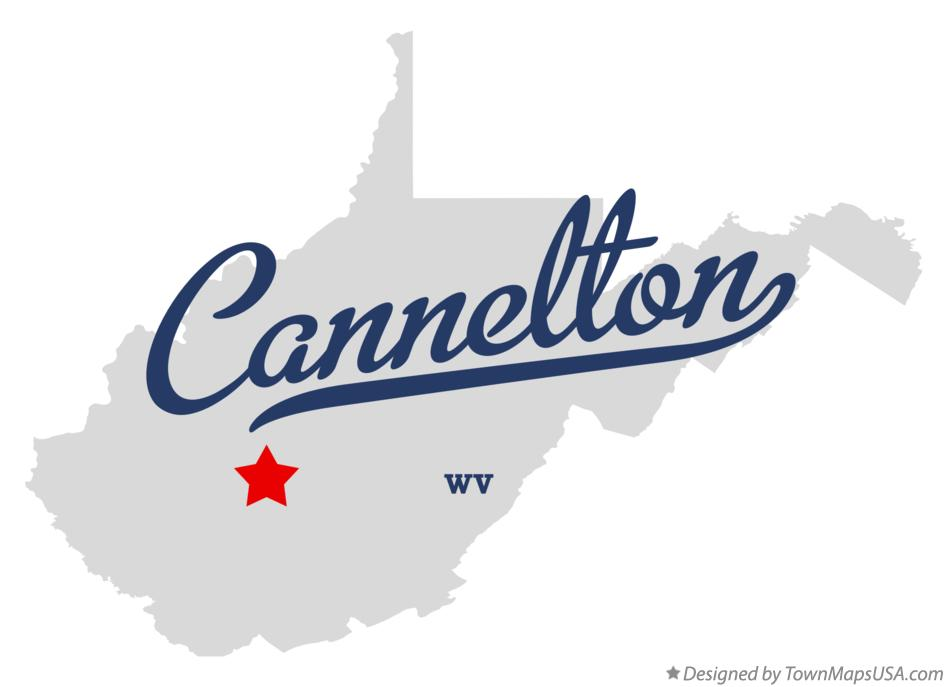Map of Cannelton West Virginia WV