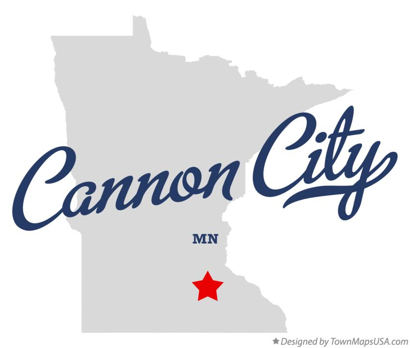 Map of Cannon City Minnesota MN
