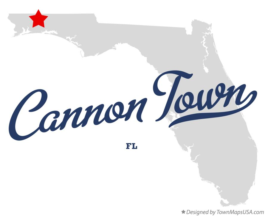 Map of Cannon Town Florida FL