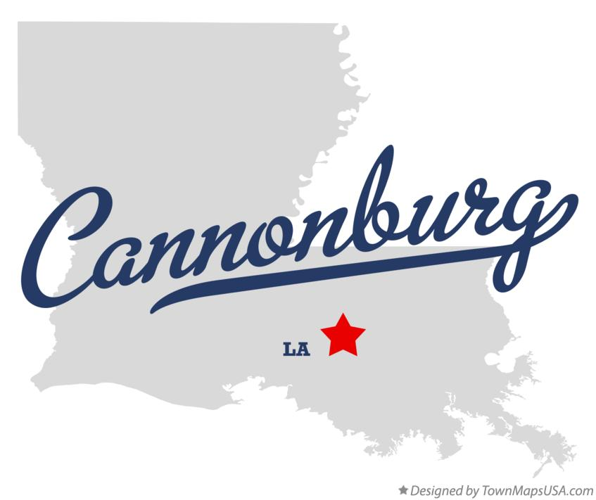Map of Cannonburg Louisiana LA