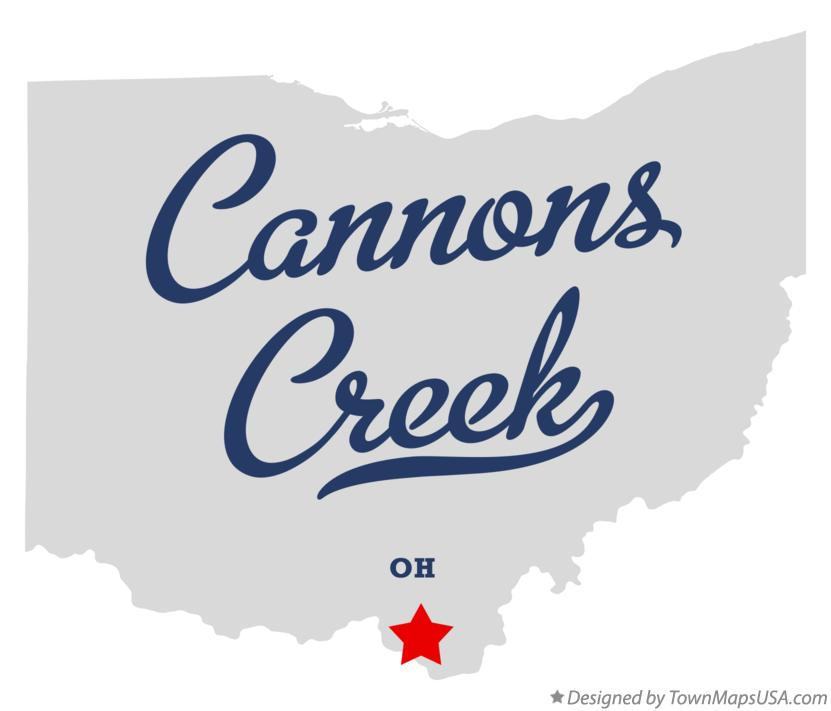 Map of Cannons Creek Ohio OH