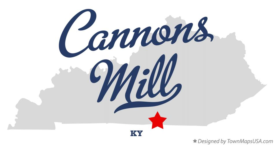 Map of Cannons Mill Kentucky KY