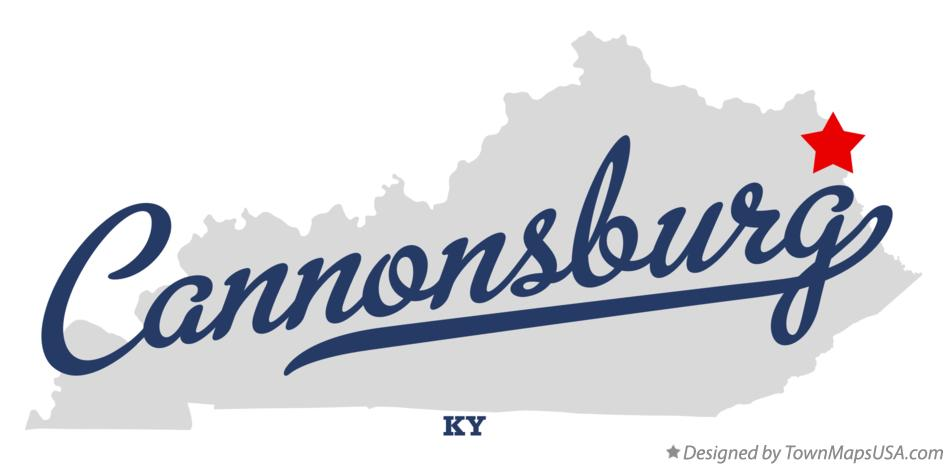 Map of Cannonsburg Kentucky KY