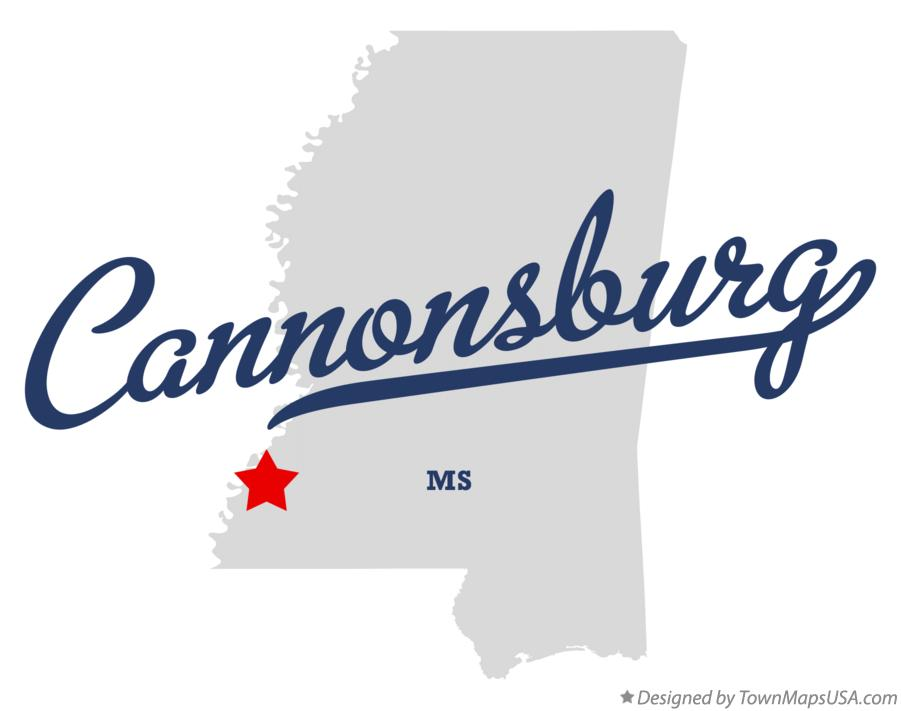 Map of Cannonsburg Mississippi MS