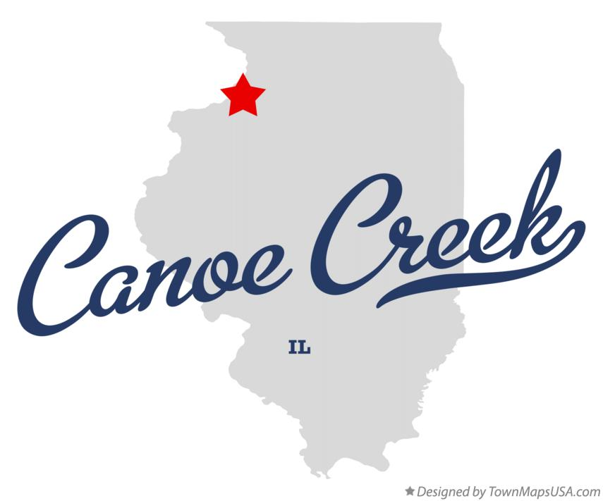 Map of Canoe Creek Illinois IL