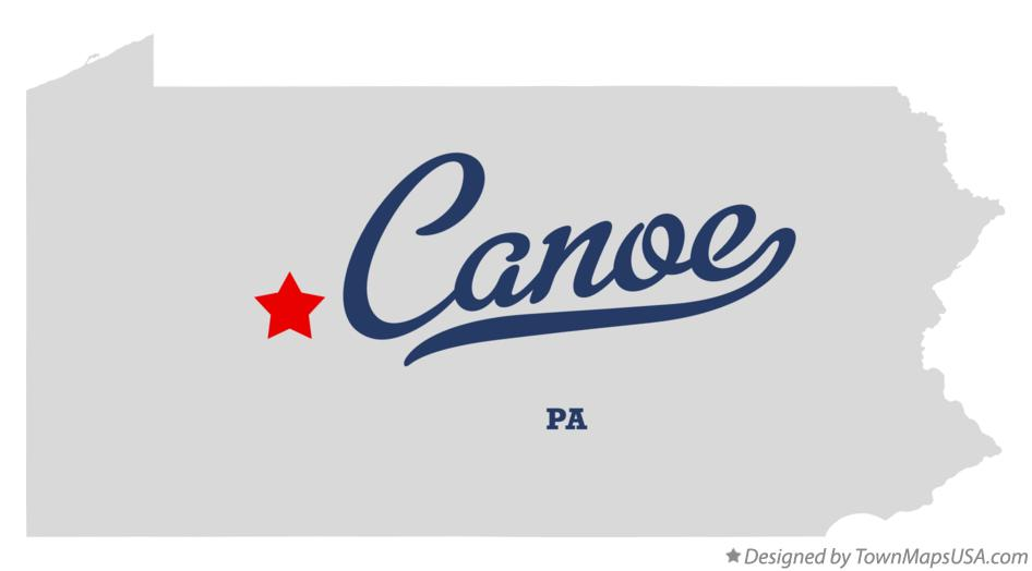 Map of Canoe Pennsylvania PA