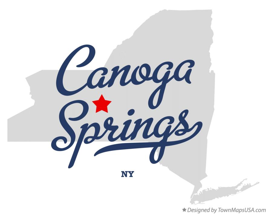 Map of Canoga Springs New York NY