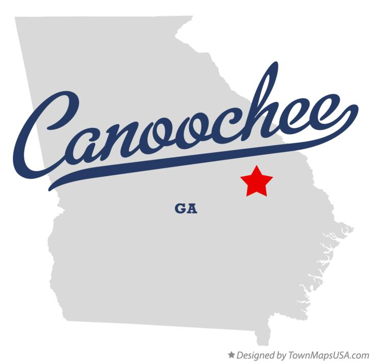 Map of Canoochee Georgia GA