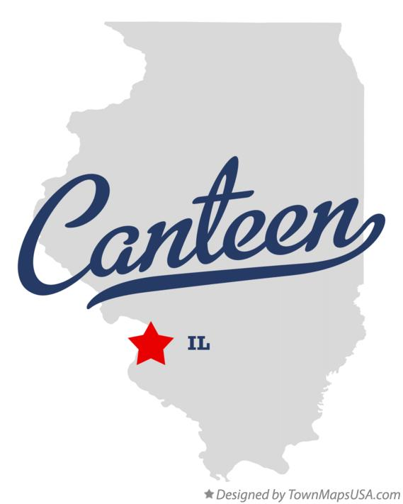 Map of Canteen Illinois IL