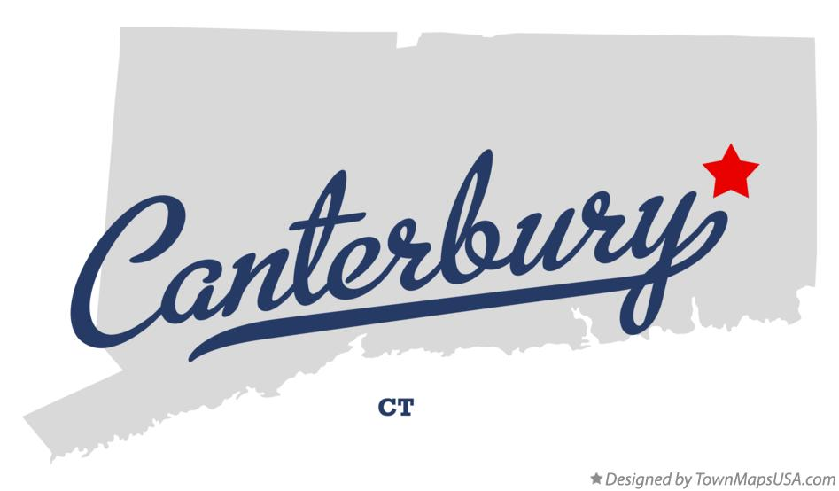 Map of Canterbury Connecticut CT