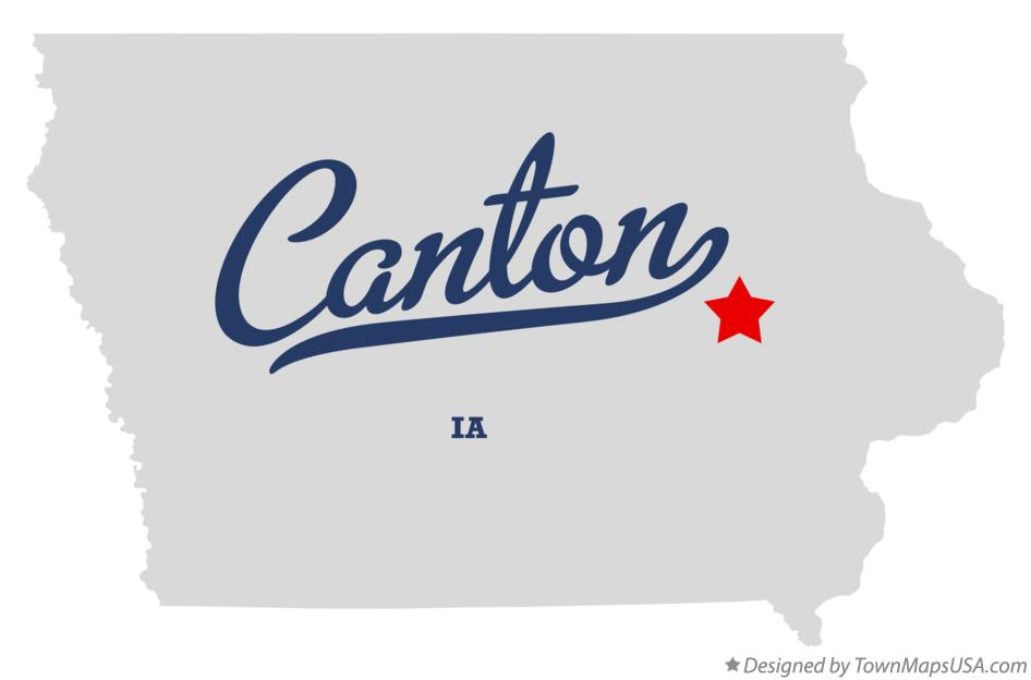 Map of Canton Iowa IA