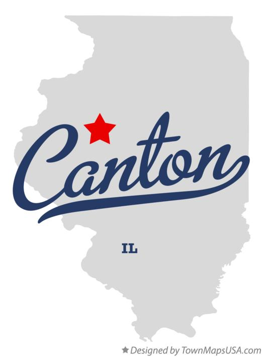 Map of Canton IL Illinois