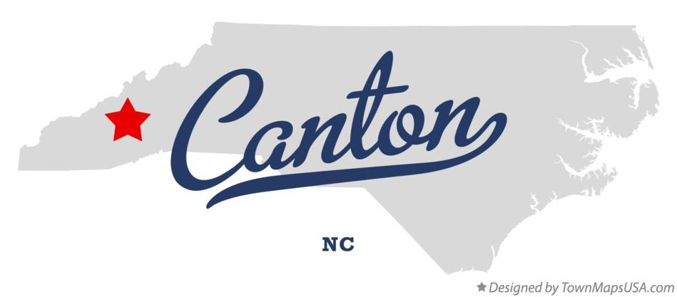 Map Of Canton Nc North Carolina