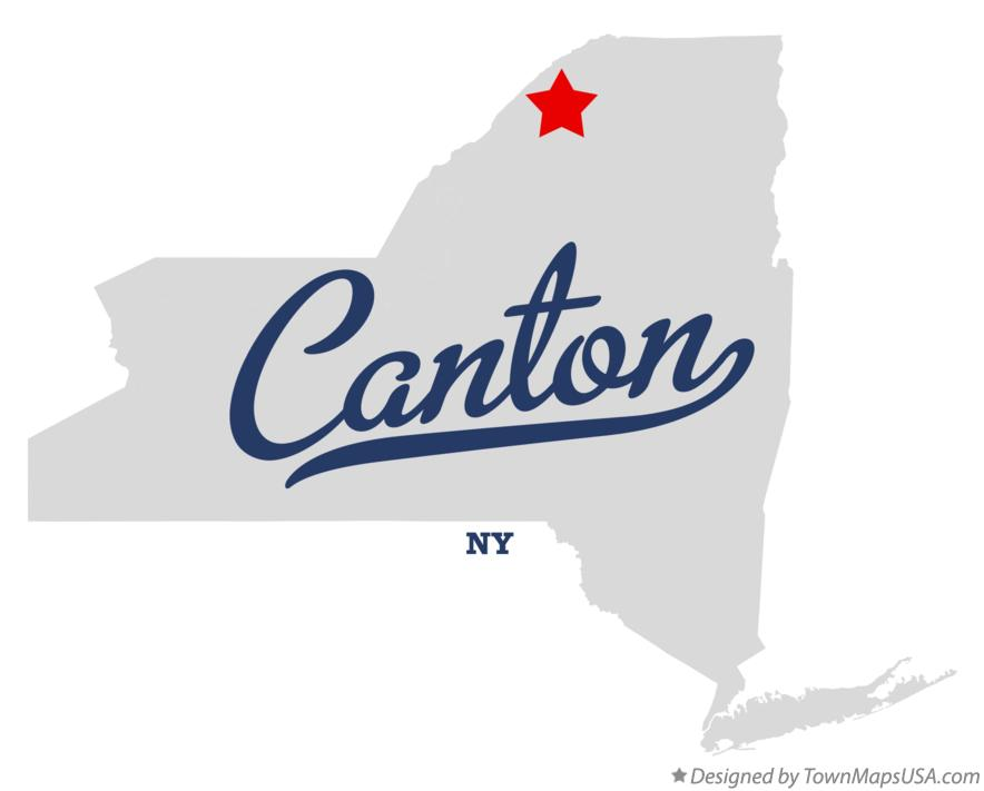 Map of Canton New York NY