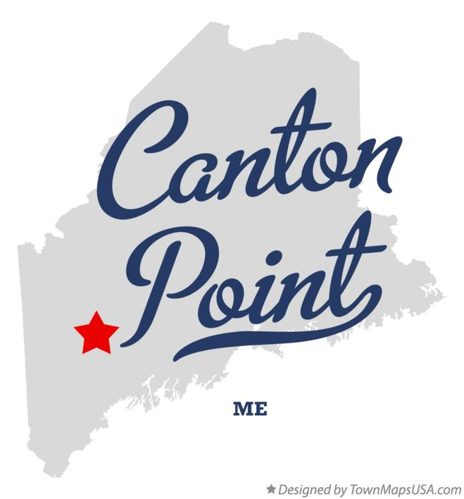 Map of Canton Point Maine ME