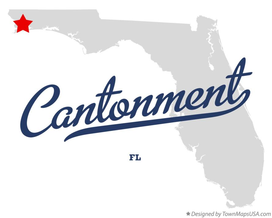 Map of Cantonment Florida FL