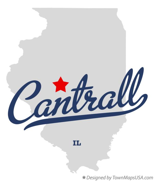 Map of Cantrall Illinois IL