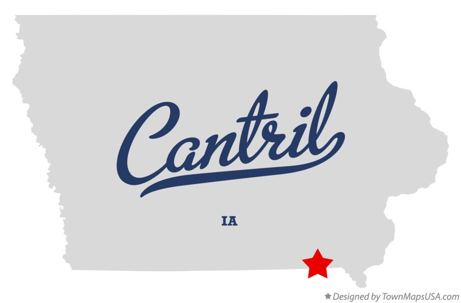Map of Cantril Iowa IA