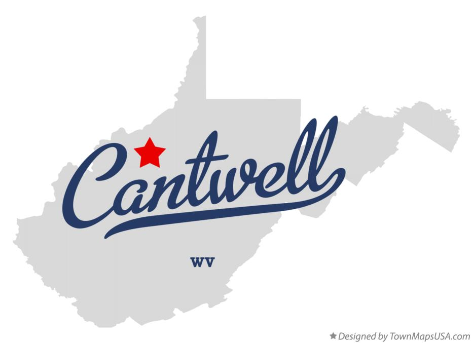 Map of Cantwell West Virginia WV