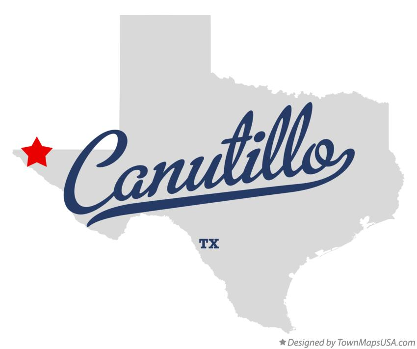Map of Canutillo Texas TX
