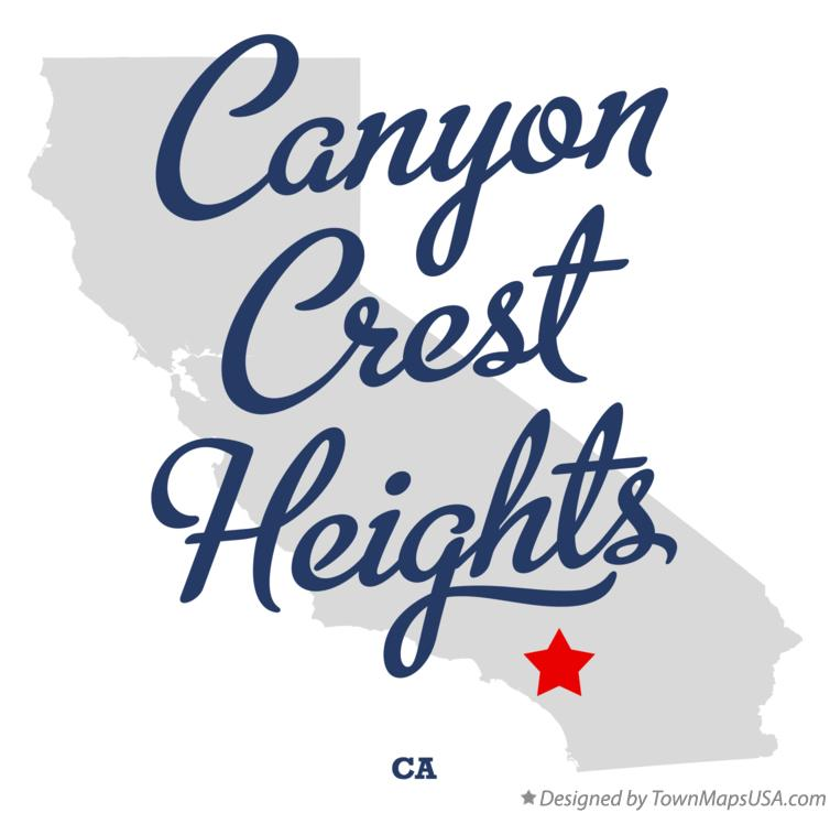 Map of Canyon Crest Heights California CA