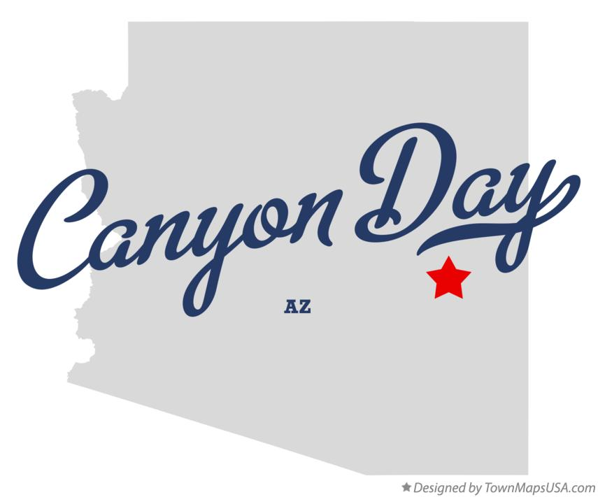 Map of Canyon Day Arizona AZ