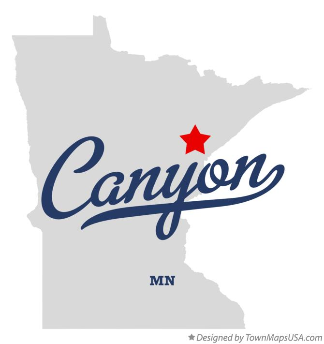 Map of Canyon Minnesota MN