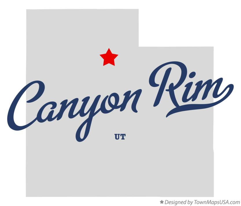 Map of Canyon Rim Utah UT
