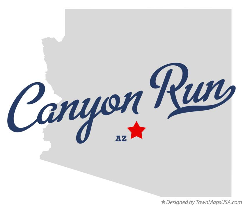 Map of Canyon Run Arizona AZ