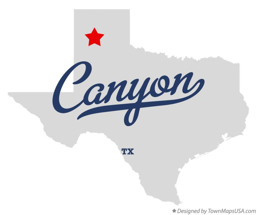 Map of Canyon Texas TX