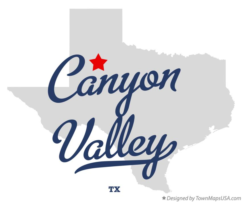 Map of Canyon Valley Texas TX