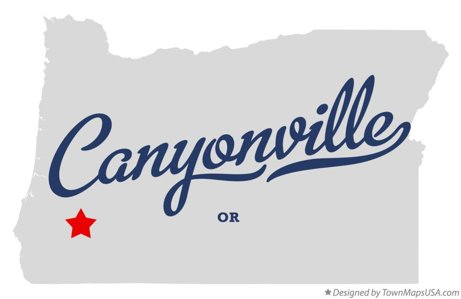 Map of Canyonville Oregon OR