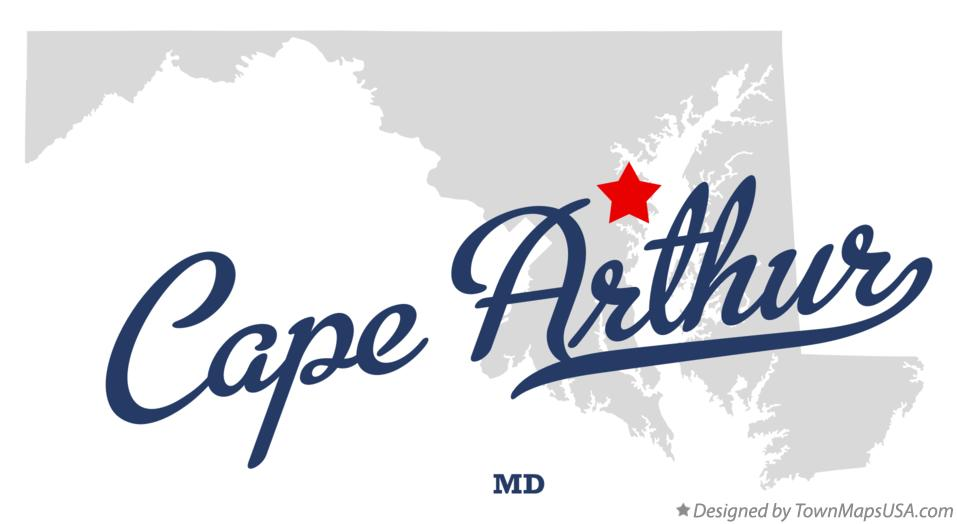 Map of Cape Arthur Maryland MD