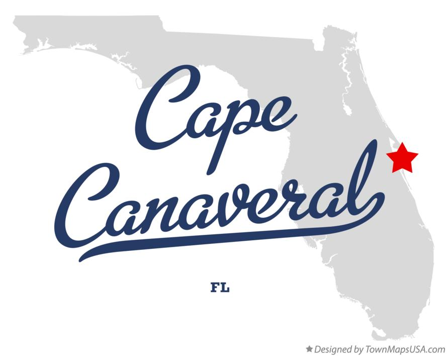Map of Cape Canaveral Florida FL