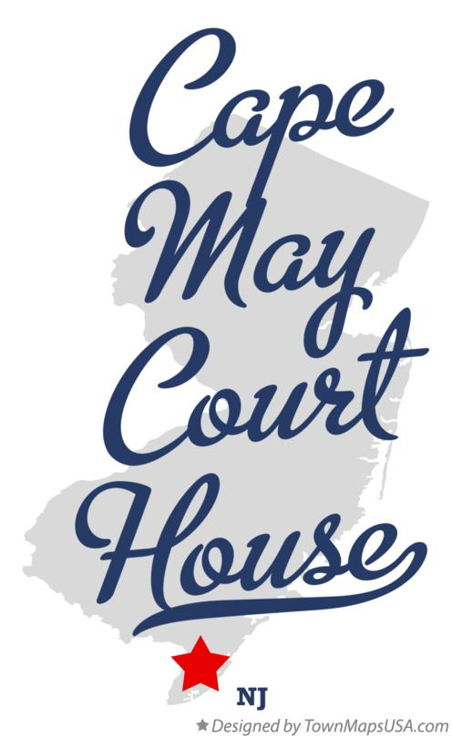 Map of Cape May Court House New Jersey NJ