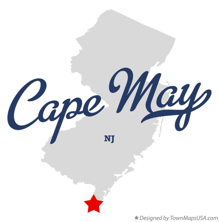 Map of Cape May New Jersey NJ